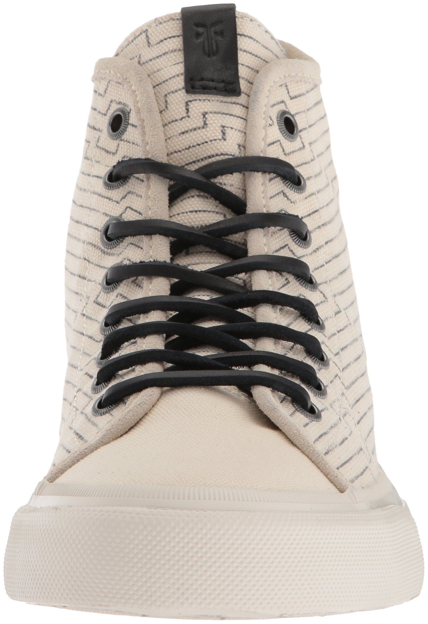 FRYE Men's Ludlow High Canvas Print Sneaker, Off White, 8.5 Medium US by FRYE (Image #4)