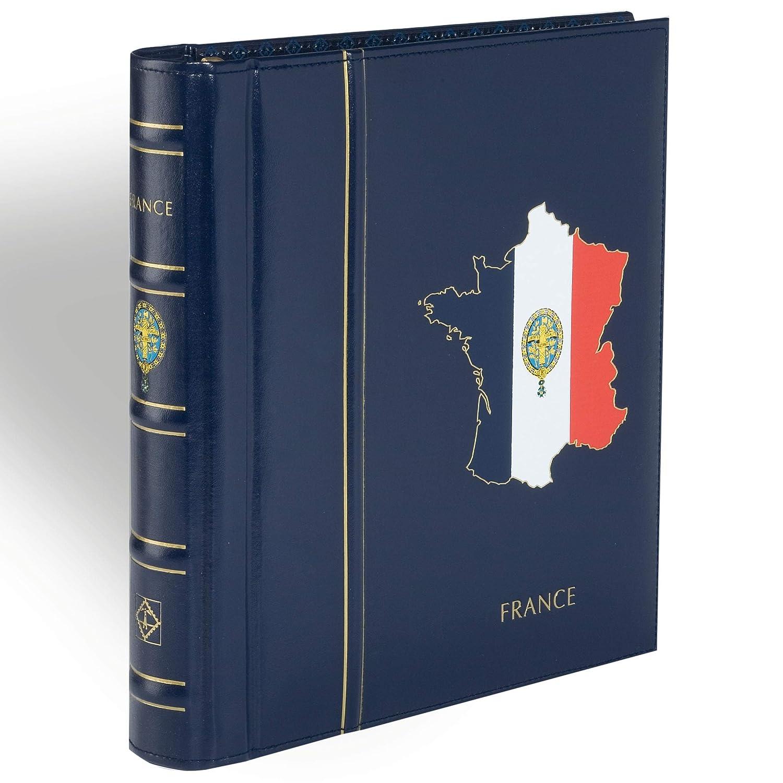 LEUCHTTURM SF-álbum preimpreso im diseño classic FRANCE 2010-2014, incl. cajetín, azul