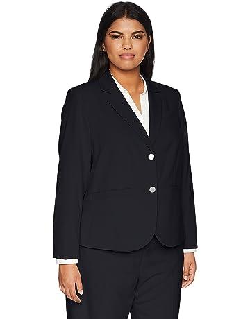 21cc8b9df4f Calvin Klein Women s Plus Size Two Button Lux Blazer