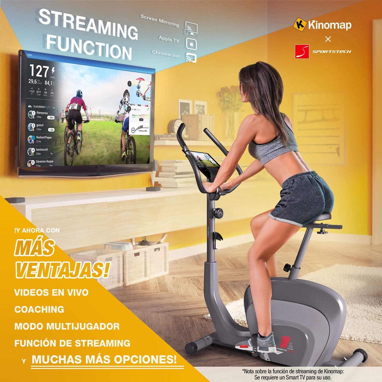 Sportstech ES400 Bicicleta estática para casa, Control de App para ...