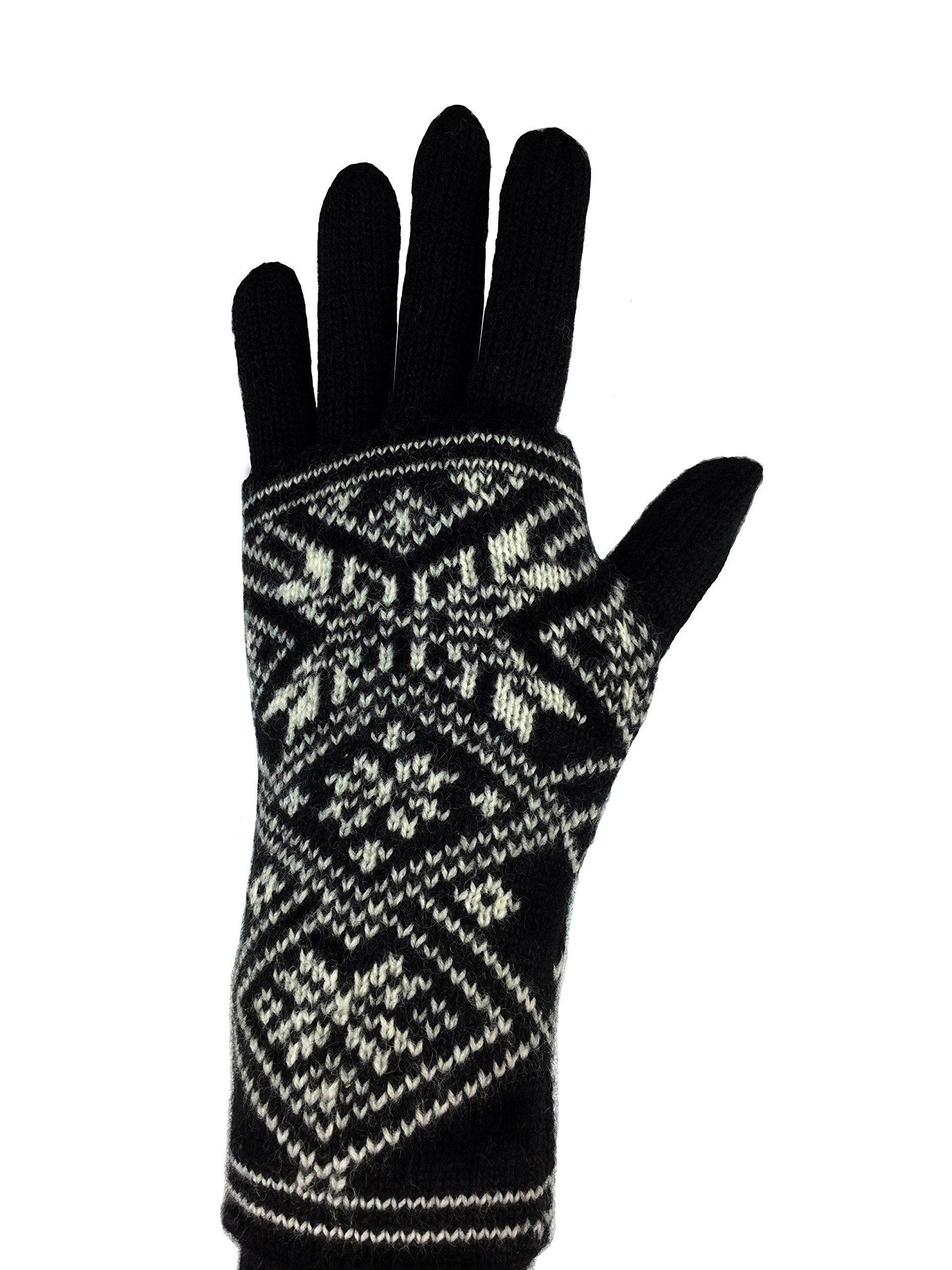 A Pair of 100% Wool Norwegian Gloves and Wristwarmer