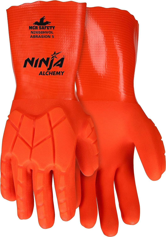 MCR Safety N2658HVOL Ninja Alchemy Liquid Impact Glove, 14 ...