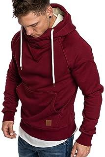 Amaci Sons Herren Turtle-Neck Kapuzenpullover Sweatjacke Pullover Hoodie  Sweatshirt 4025 92f97c402e