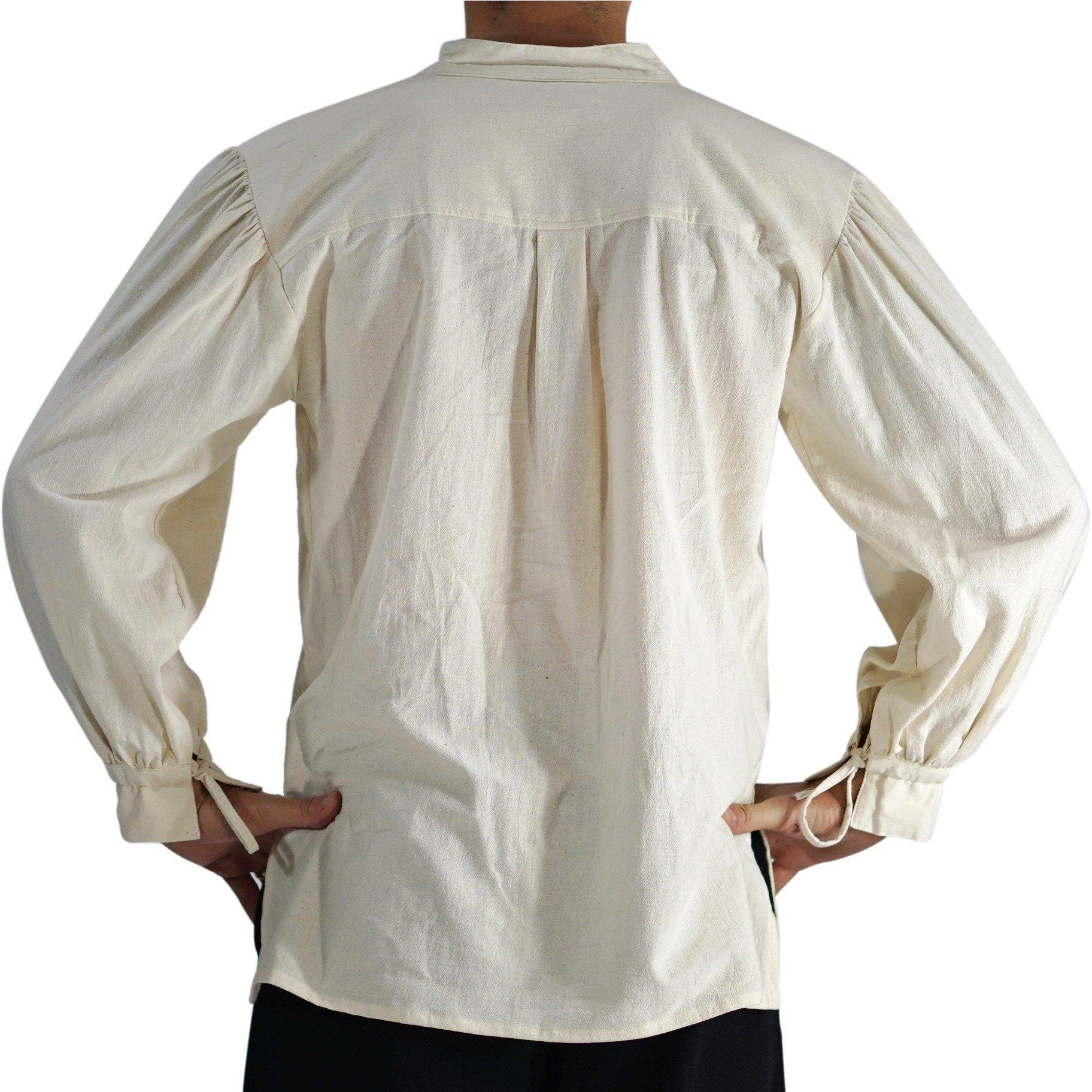'Merchant' High Collar, Renaissance Festival Costume Shirt, Pirate, Steampunk - Cream/Off White by Zootzu (Image #3)