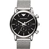 Emporio Armani AR1811 - Reloj de cuarzo para hombre, correa de acero inoxidable color plateado