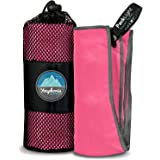 TravelSafe Portable Travel Quick Dry Ultra Light Towel Hiking Camping 40x40cm