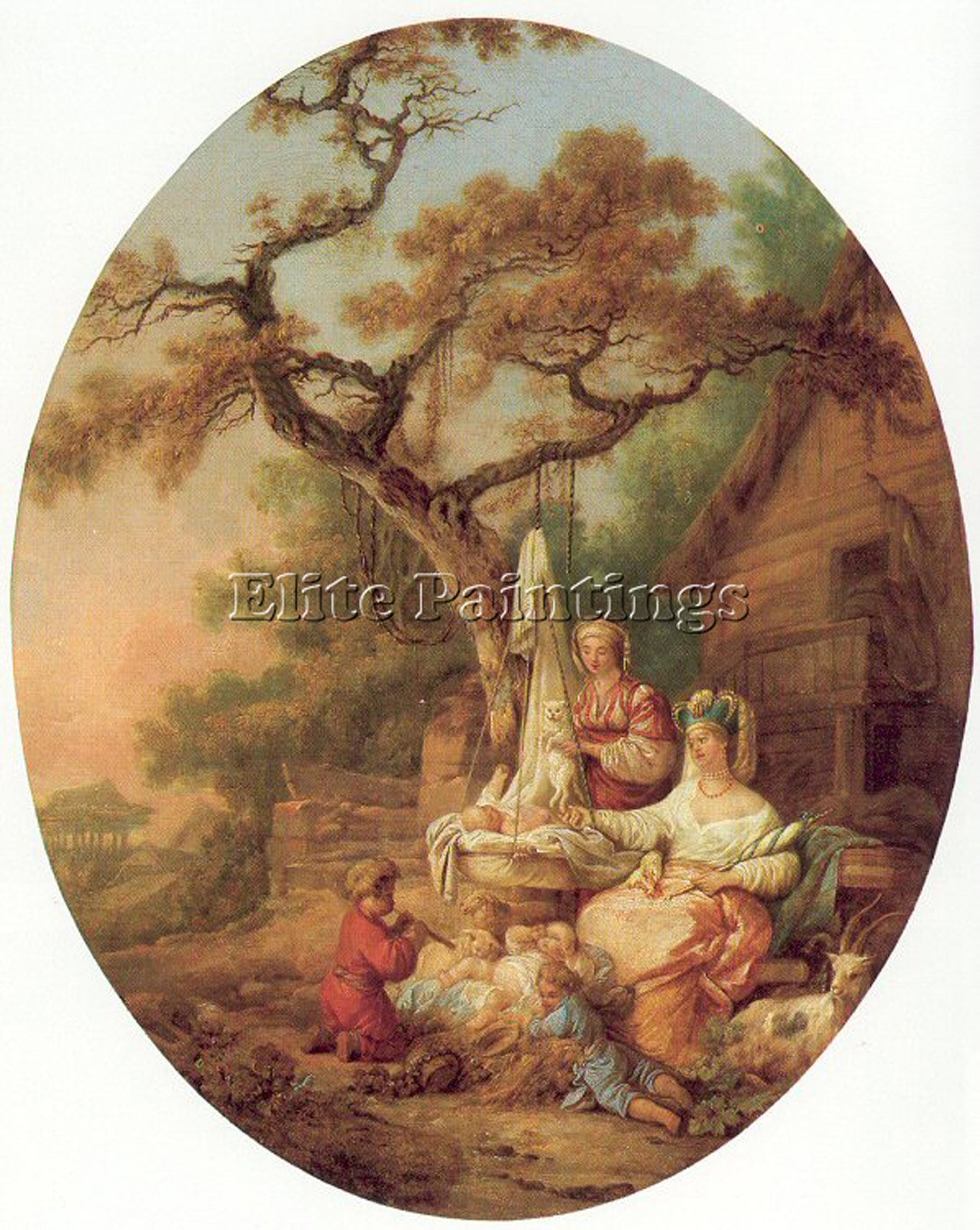 PRINCE JEAN BAPTISTE SCENE RUSSIAN EVERYDAY LIFE FRENCH 81 ARTIST PAINTING CANVA 48x40inch by Elite-Paintings