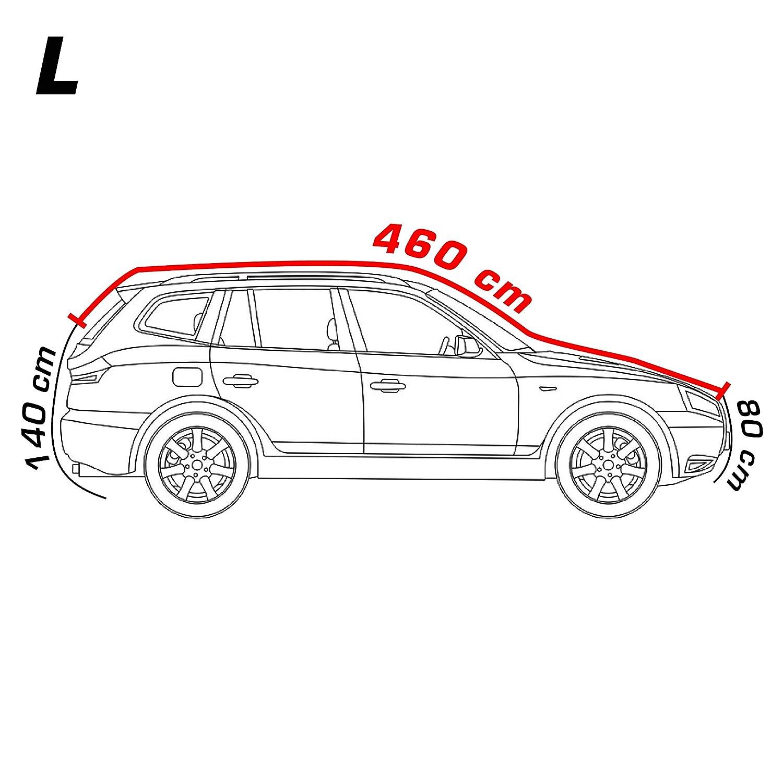 4CARS B/âche pour Voiture SUV Anti-gr/êle Protection Contre Le Gel Protection Contre la gr/êle UV imperm/éable Neige Taille XL; 508x193x155 cm Pluie Sac de Rangement et verrou Inclus