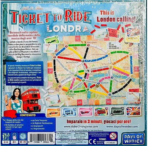 Asmodee Italia - Ticket to Ride London - Juego de Mesa íntegramente en Italia, Color 8514: Amazon.es: Juguetes y juegos