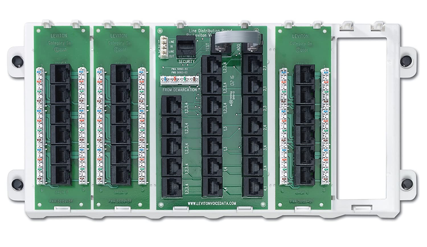 Leviton 47603-18P 18-Port Structured Media Panel, White - Electrical ...