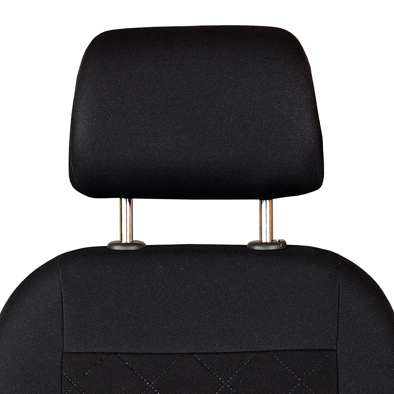 motif /à carreaux press/és Pour si/èges conducteur et passager couleur premium noir Housses de si/ège avant pour Kangoo