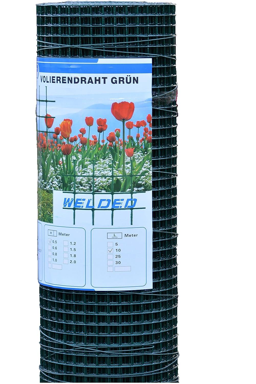 UV-Garantie in Gr/ün Terrasse Gr/ö/ße: 100x100 cm Garten wasserdurchl/ässig f/ür Balkon delibett Kunstrasen Rasenteppich