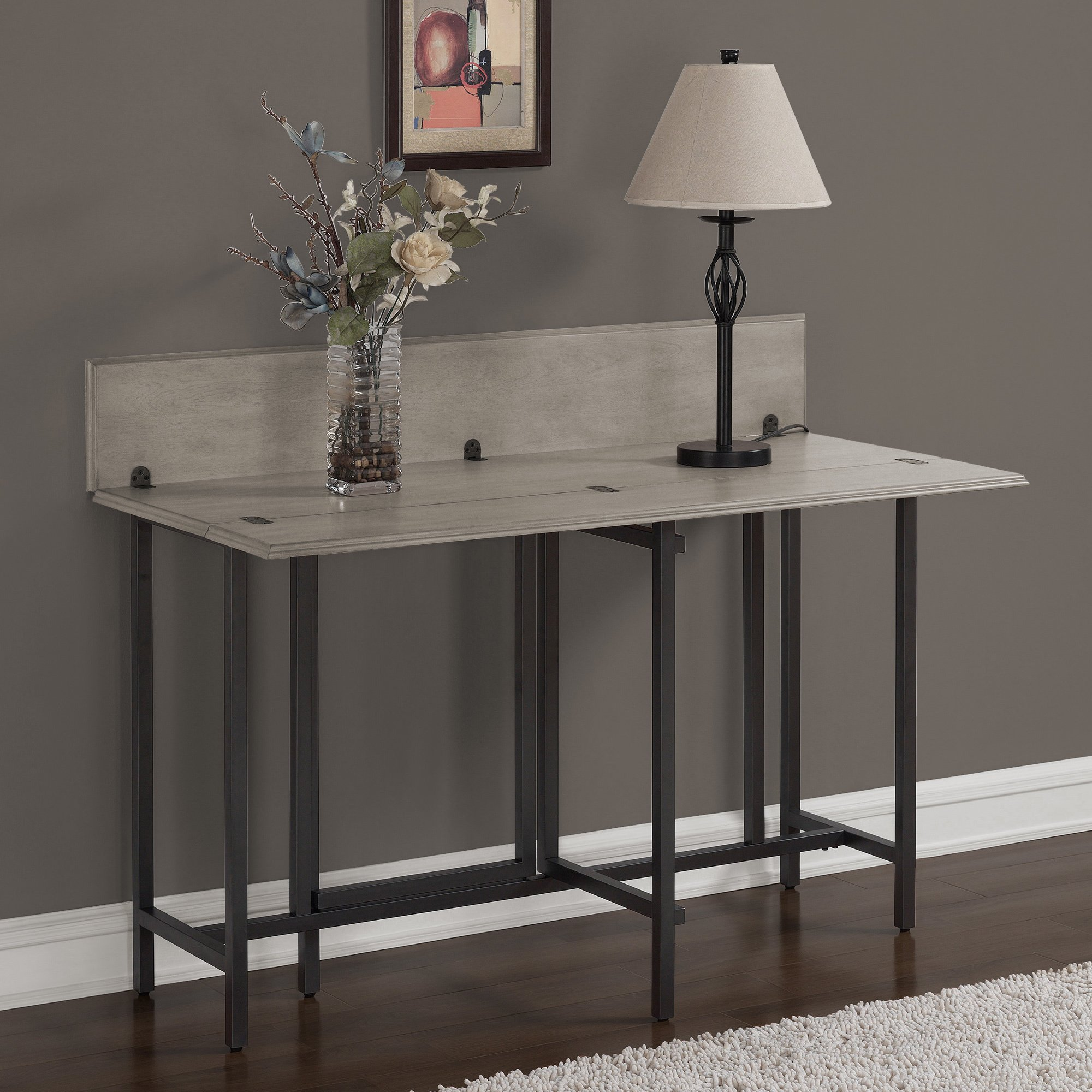 Convertible Dining Table Wood Contemporary Expandable Home Console Kitchen Table by I Love Living (Image #5)
