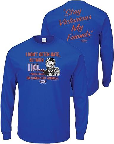 Dont Be A D!ck Sm-5X Florida Football Fans or Sticker Royal T-Shirt