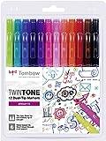 Set De 12 Rotuladores Tombow Twintone Brights