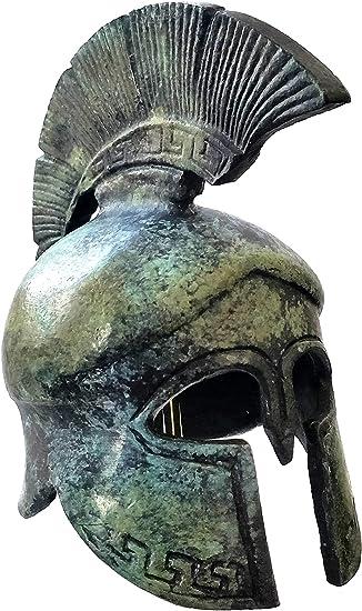 IconsGr Griego Antiguo Bronce Museo réplica de Casco Espartano (1367): Amazon.es: Hogar