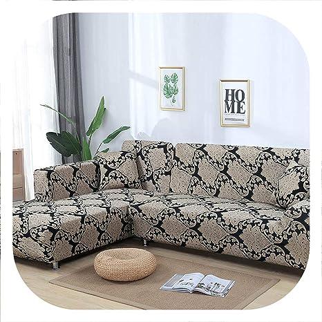 Peony red Funda de sofá elástica en Forma de L, Color Rojo ...