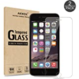 (Pack of 2) iPhone 6S Plus Screen Protector, Akwox 0.33mm High Definition Clear Tempered Glass Screen Protector For iPhone 6S Plus / 6 Plus - Max Clarity And Touch Accuracy Film