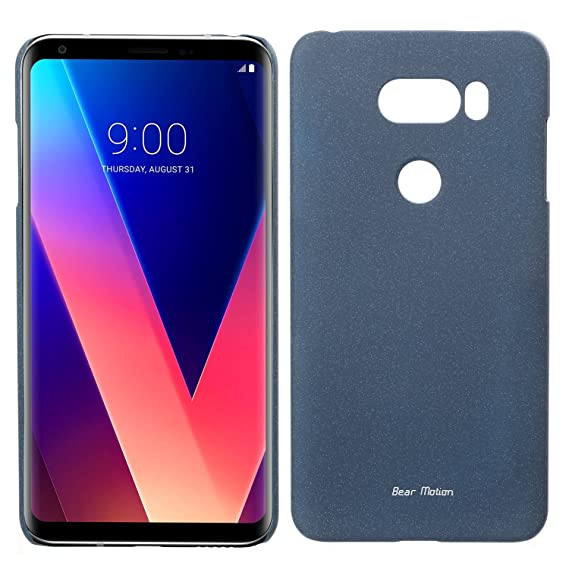 buy online 378c9 f7487 Slim Case for LG V30 - Bear Motion Premium Slim Back Cover for LG V30 (Blue)