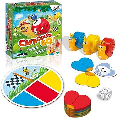 Diset - Caracoles Go, juego de mesa educativo: Amazon.es: Juguetes ...