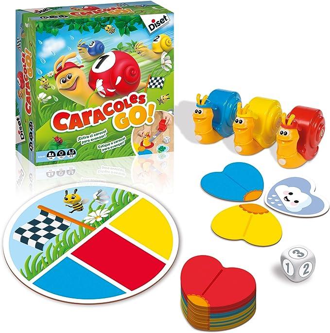 Diset - Caracoles Go, Verde/Azul: Amazon.es: Juguetes y juegos