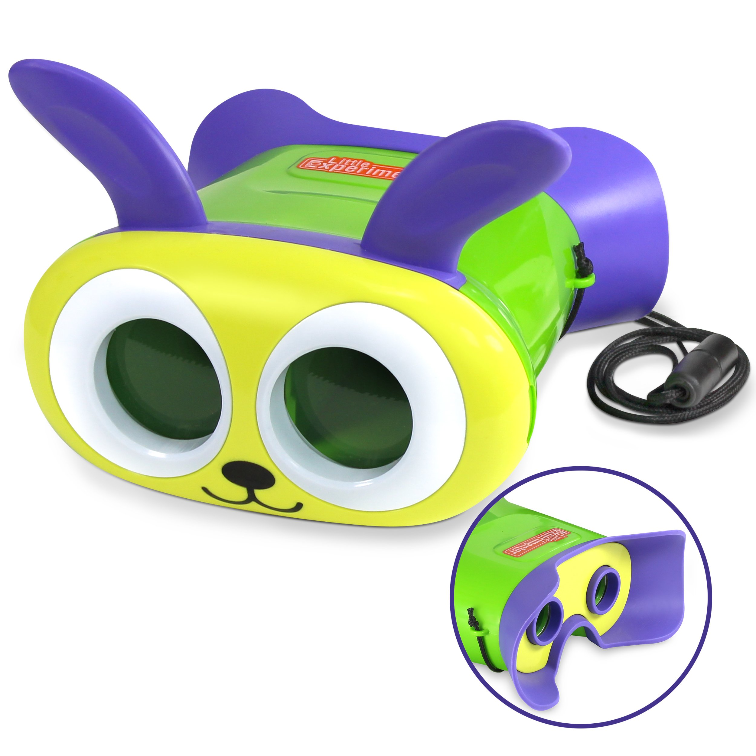 Little Experimenter Bunny Binoculars for Kids - Toy Binoculars for Toddlers - Lightweight & Durable by Little Experimenter