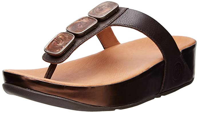 7a01152ed0b Fitflop Sandals Pietra II Chocolate UK4 Chocolate  Amazon.co.uk  Shoes    Bags