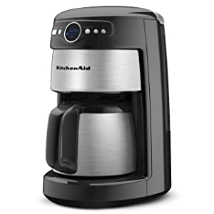 KitchenAid 12-Cup Thermal Carafe Coffee Maker, Onyx Black