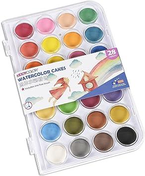 Acuarela Estuche 28 Pastillas varios colores Conda varios colores: Amazon.es: Juguetes y juegos