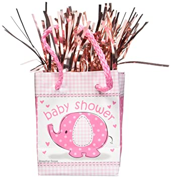 Pink Elephant Girl Baby Shower Balloon Weight