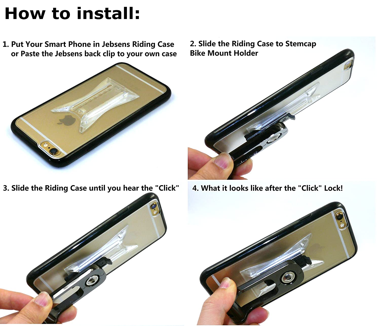 jebsens - New clipgrip stemcap/mango bar Bike Mount Soporte con clipgrip para iPhone 6 4,7