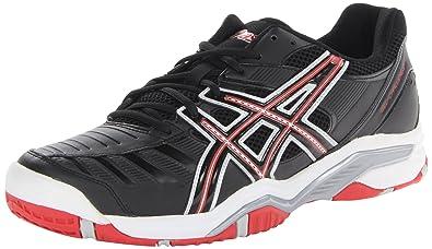 Asics Mens Gel-Challenger? 9r Black/Fiery Red/Silver - Sneakers