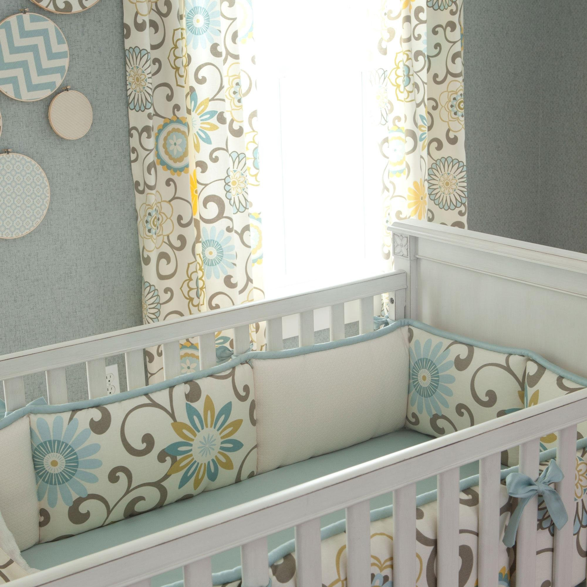Carousel Designs Spa Pom Pon Play Crib Bumper