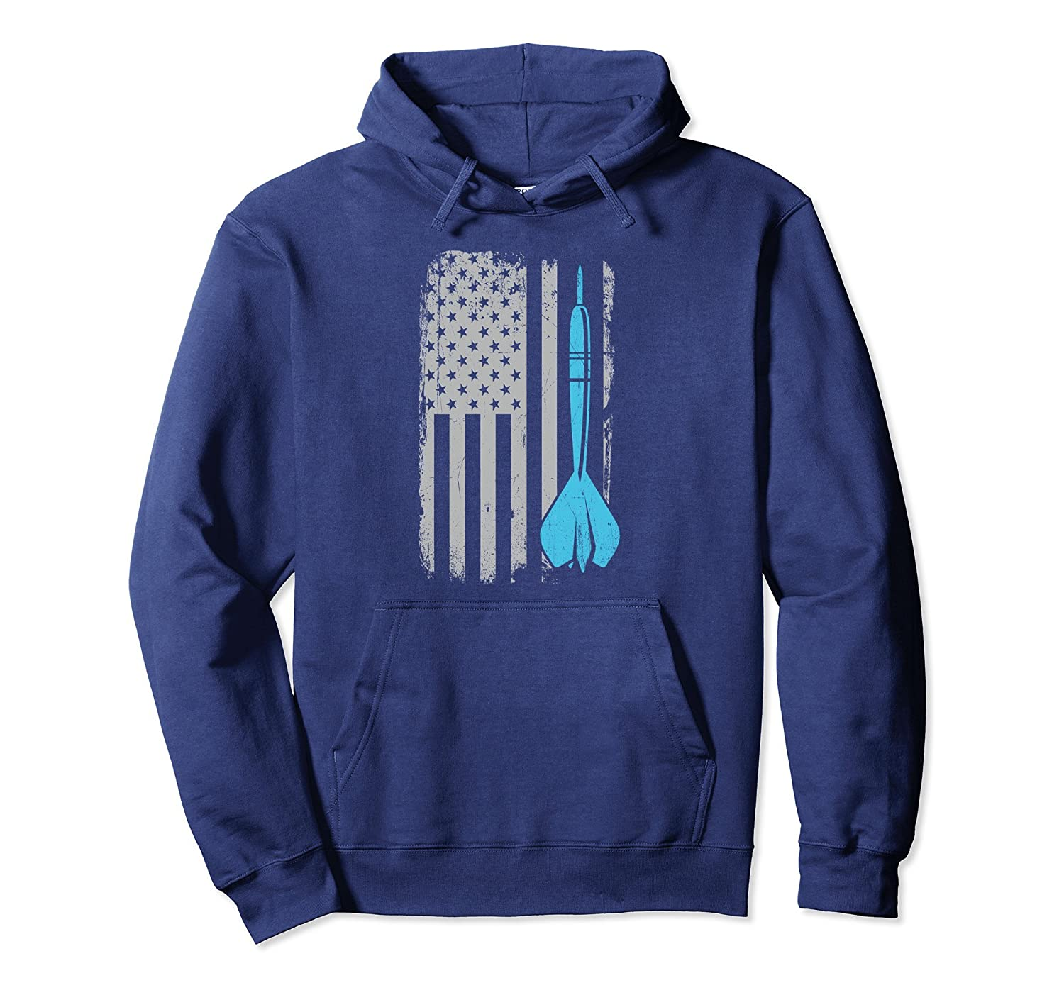 Darts Hoodie Vintage American Flag for Dart Players-Veotee