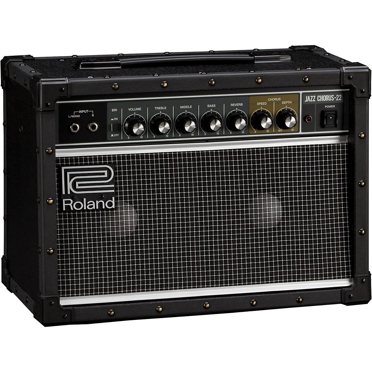 Roland Jc 22 Jazz Chorus 30w 2x65 Guitar Combo Watt Audio Amplifier Black Musical Instruments