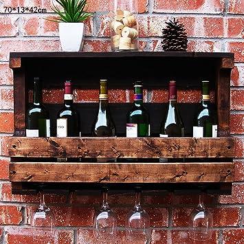 FAFZ-Porta vasos de champán, estante de vino Wine Rack Vendimia Vieja Pared Colgante