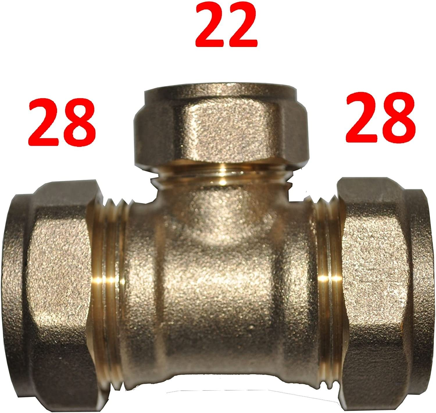 28mm x 28mm x 22mm Compression Reducing Tee