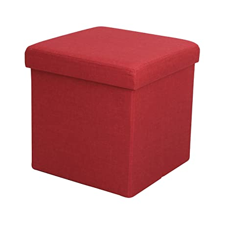Terrific Itidy Ottoman Linen Fabric Folding Storage Ottoman Cube Bench Seat Foot Rest Stool Puppy Step Storage Chest Red Forskolin Free Trial Chair Design Images Forskolin Free Trialorg