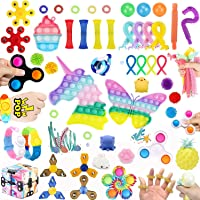 50 Pcs Fidget Toys Set Cheap,Figetget toys set Pack,Sensory Relief Toys Set, Anxiety Relief Fidget Toys With Needohball…