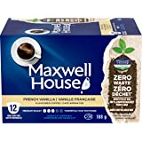 Maxwell House French Vanilla Flavoured Coffee 100% Compostable Pods, 12 Pods