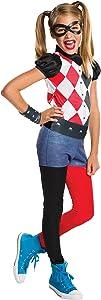 Rubie's Costume Kids DC Superhero Girls Harley Quinn Costume, Small