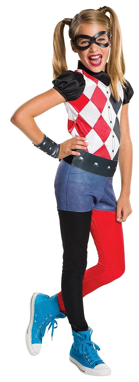 Rubies Costume Kids DC Superhero Girls Harley Quinn Costume, Medium 620744_M