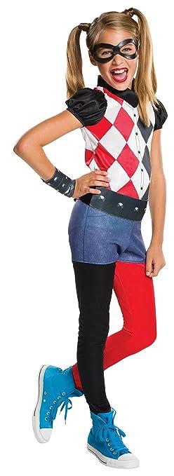 Amazon.com: Rubie's Costume Kids DC Superhero Girls Harley Quinn ...
