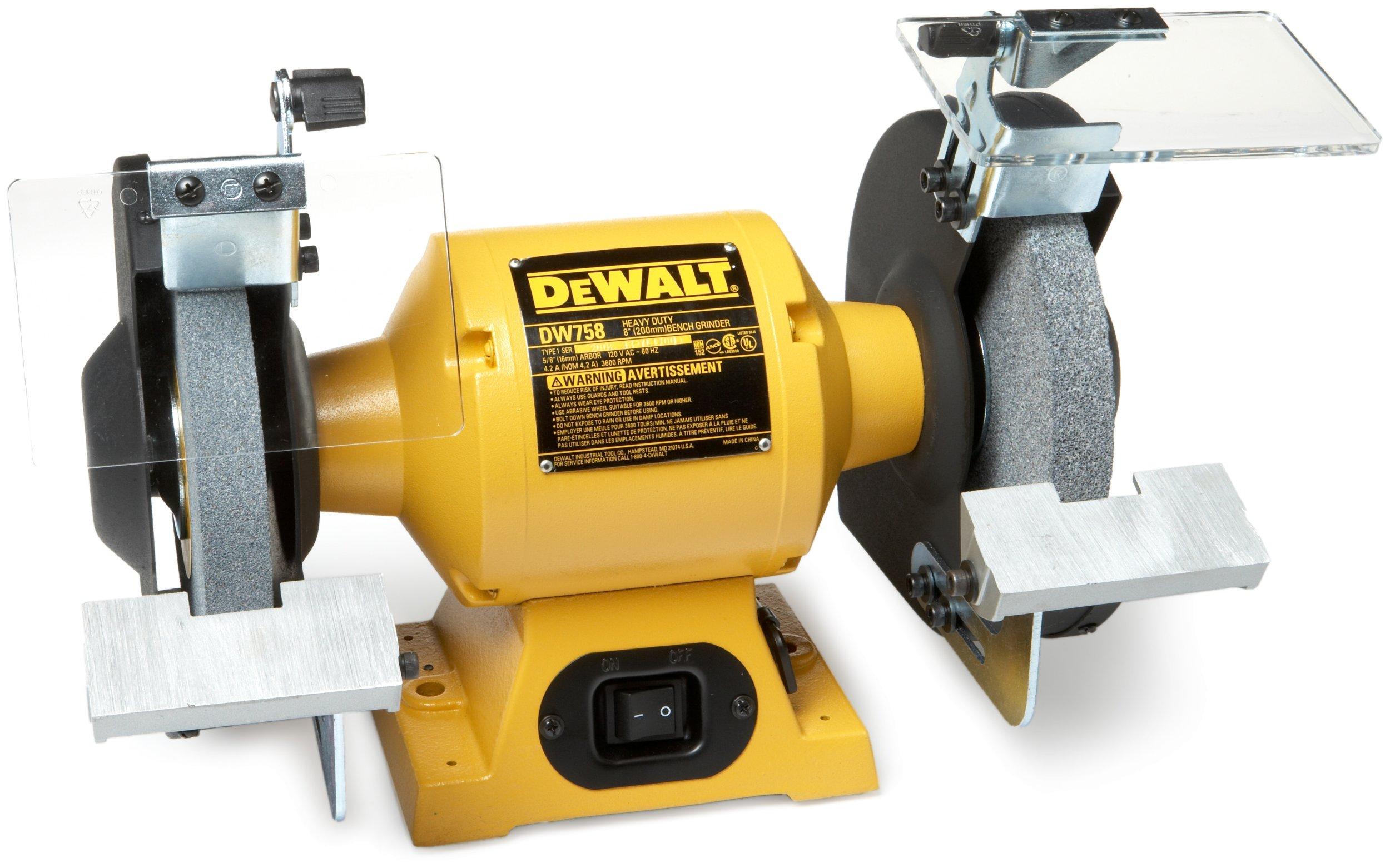 Galleon Dewalt Dw758 8 Inch Bench Grinder