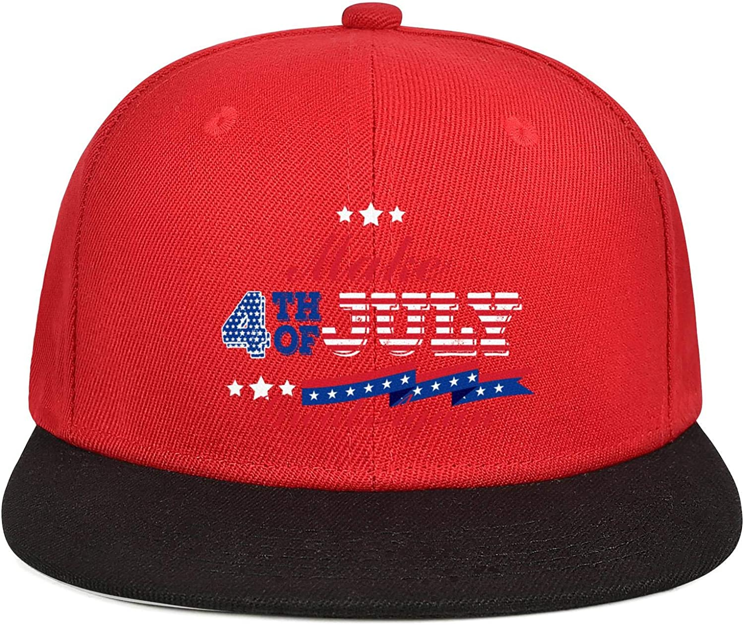 KYTKYTT Unisex Mesh Snapback Cap Make 4th of July Great Again American Flag Flat Hip Hop Baseball Hats