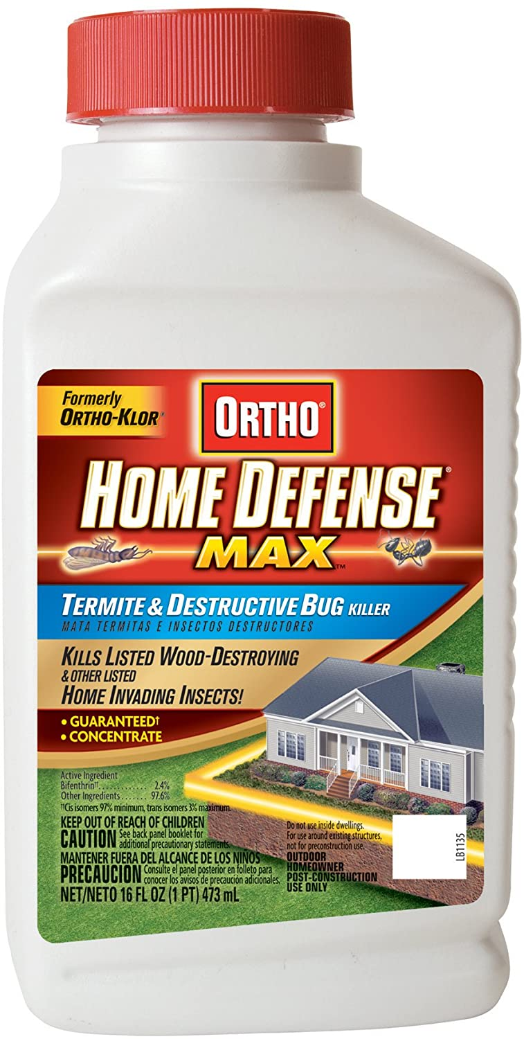 Ortho Home Defense MAX Termite and Destructive Bug Killer Concentrate, 16-Ounce (Not Sold in MA, NY, RI)