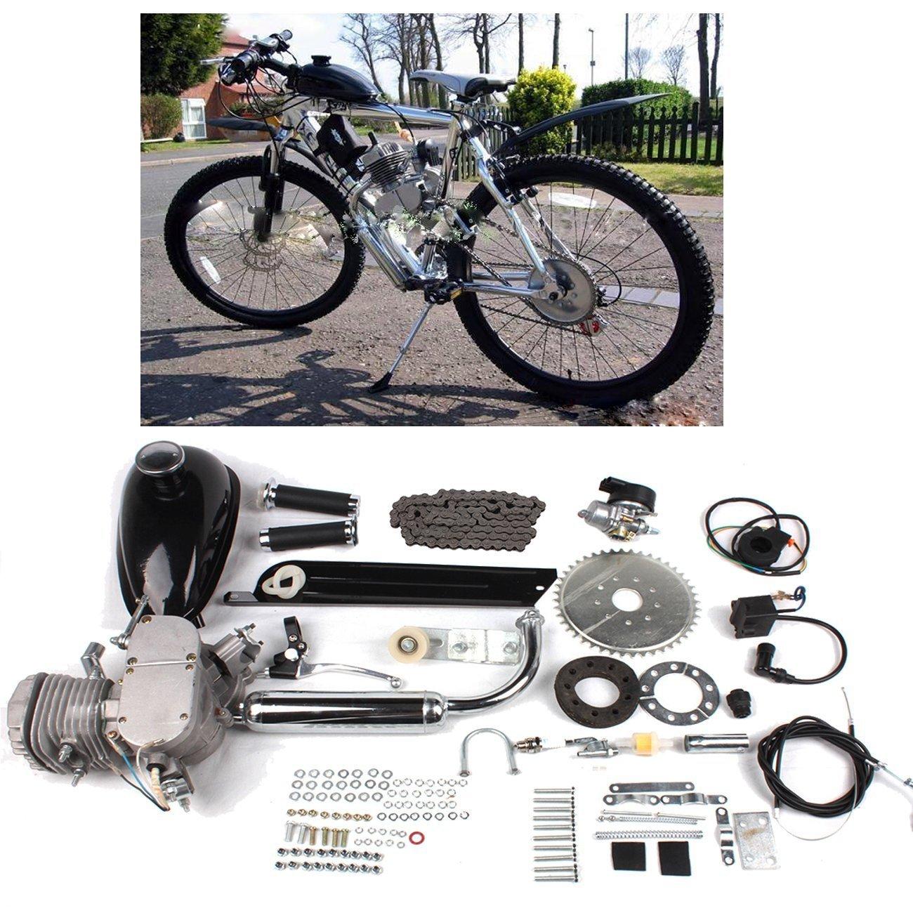 RayWax Motorizado Bicicleta 80CC Kit, 2 Trazo Kit de Motor de Bicicleta, Motor y Gasolina de Ciclo de Pedal de Bicicleta Motorizada/Eléctrica, ...