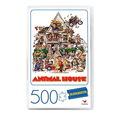Animal House Movie 500-Piece Puzzle in Plastic Retro Blockbuster VHS Video Case: Toys & Games