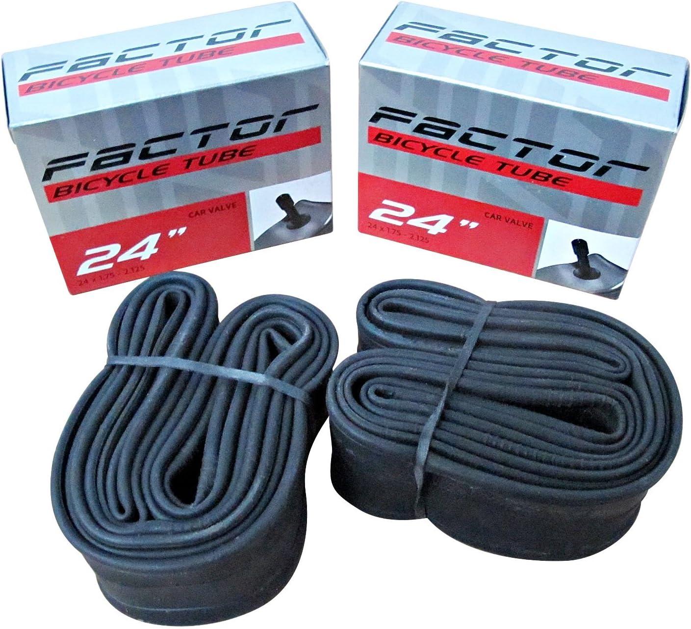 2 x SCHRADER Valve Cycle Bike Tubes 18 x 1.75-2.125 Car Type REPAIR KIT