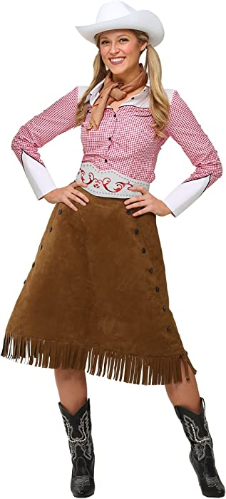 dc9622909 Adult Rodeo Cowgirl Costume Brown